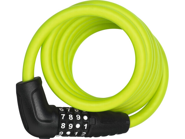 ABUS Numero 5510 Combi Spiral Cable Lock 180cm SCMU, lime green